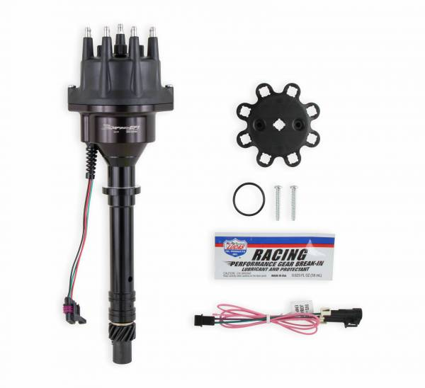 Holley Sniper EFI - 565-300BK Sniper EFI HyperSpark Distributor - Chevy SBC/BBC - Black Billet Housing