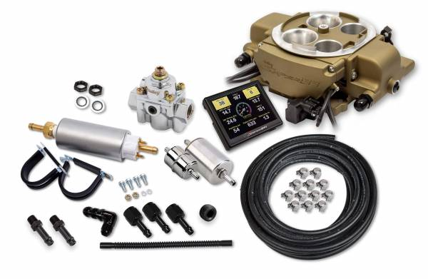 Holley Sniper EFI - Holley Sniper EFI Quadrajet Master Kit - Classic Gold Finish