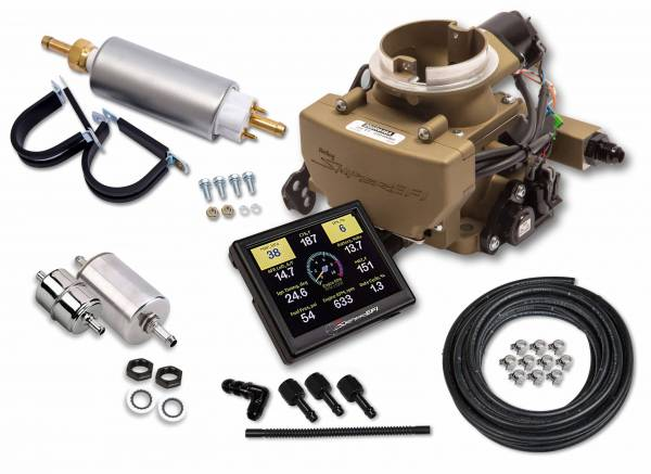 Holley Sniper EFI - 550-866K Holley Sniper EFI 2GC Small Bore Master Kit - Classic Gold Finish