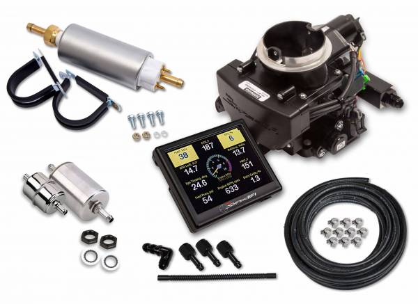 Holley Sniper EFI - 550-865K Holley Sniper EFI 2GC Small Bore Master Kit - Black Ceramic Finish