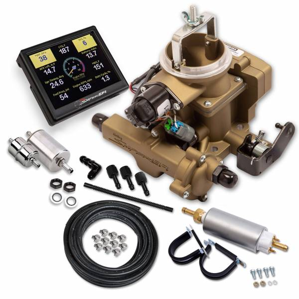 Holley Sniper EFI - Holley Sniper EFI BBD Master Kit for Jeep CJ - Classic Gold