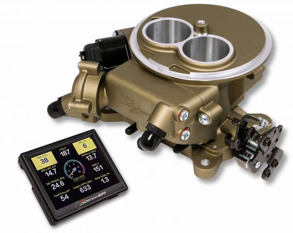 Holley Sniper EFI - 550-851 Holley Sniper EFI 2300 Self-Tuning Kit - Classic Gold Finish