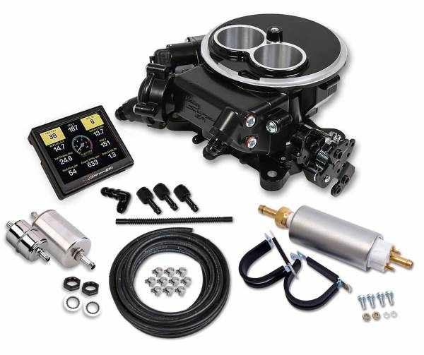 Holley Sniper EFI - Holley Sniper EFI 2300 Self-Tuning Master Kit - Black Ceramic Finish