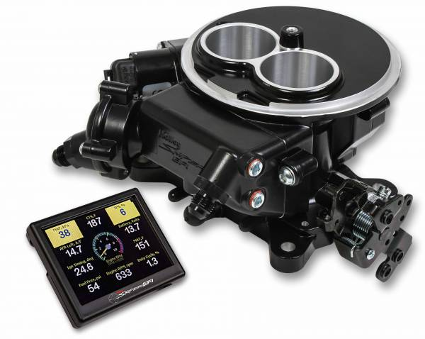 Holley Sniper EFI - 550-850 Holley Sniper EFI 2300 Self-Tuning Kit - Black Ceramic Finish