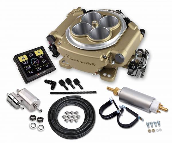 Holley Sniper EFI - 550-516K Holley Sniper EFI Self-Tuning Master Kit - Classic Gold Finish