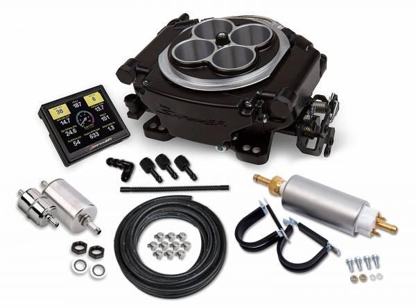 Holley Sniper EFI - 550-511K Holley Sniper EFI Self-Tuning Master Kit - Black Ceramic Finish