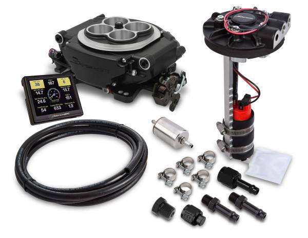 Holley Sniper EFI - 550-511D Holley Sniper EFI Returnless Master Kit - Black Ceramic