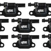 Accel - 140081-8 Accel 14-UP LT SQUARE COIL - BLACK 8 PACK