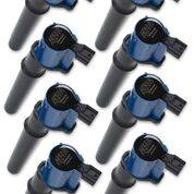 Accel - 140034B-8 Accel COIL, FORD MOD ENG 4VALVE- BLUE - 8 PACK
