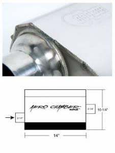 Exhaust - Mufflers - Hooker - Hooker Hooker Aero Chamber Muffler 21501HKR