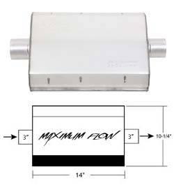 Exhaust - Mufflers - Hooker - Hooker Hooker Maximum Flow Muffler 21606HKR