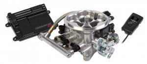 Holley EFI - 550-405 Holley Terminator™ EFI 4bbl Throttle Body Fuel Injection System, Polished