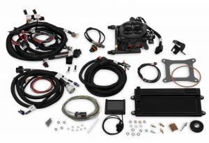 Terminator EFI - Terminator TBI Kit - Holley EFI - Holley EFI TERMINATOR EFI, LSX 58X, W TRANS (HARD CORE GREY) 550-426