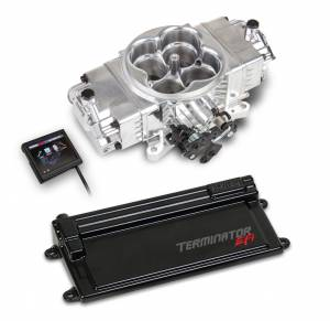 Terminator EFI - Terminator Stealth EFI - Classic Carb Look with Terminator ECU - Holley EFI - Holley EFI TERMINATOR STEALTH EFI KIT W/TRANS CONTROL - SHINY 550-442