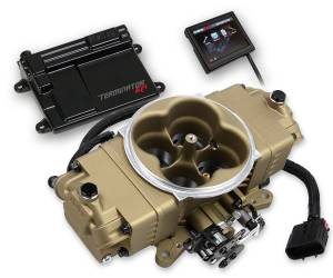 Terminator EFI - Terminator Stealth EFI - Classic Carb Look with Terminator ECU - Holley EFI - Holley EFI TERMINATOR STEALTH EFI KIT - GOLD 550-444