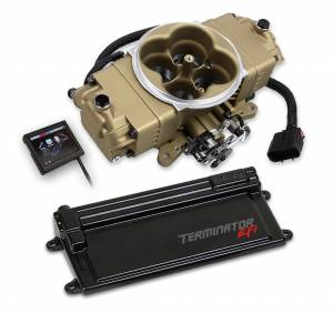 Terminator EFI - Terminator Stealth EFI - Classic Carb Look with Terminator ECU - Holley EFI - Holley EFI TERMINATOR STEALTH EFI KIT W/TRANS GOLD 550-445