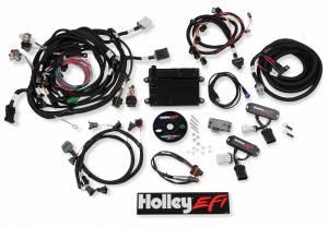 EFI Systems - Holley HP - Holley EFI - Holley EFI 4V FORD MODULAR EFI KIT, BOSCH O2, JETRONIC INJ 550-617