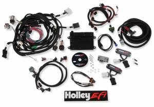 EFI Systems - Holley HP - Holley EFI - Holley EFI 4V FORD MODULAR EFI KIT, NTK O2, JETRONIC INJ 550-617N