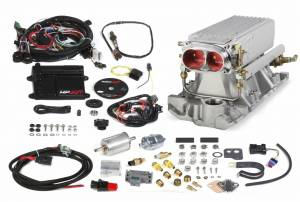 MPFI Systems - HP EFI  - Holley EFI - 550-820 Holley HP EFI Stealth Ram Fuel Injection System, SBC, Satin
