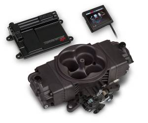Terminator EFI - Terminator Stealth EFI - Classic Carb Look with Terminator ECU - Holley EFI - Holley EFI TERMINATOR STEALTH EFI KIT - HC GRAY 550-441