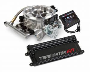 Terminator EFI - Terminator Stealth EFI - Classic Carb Look with Terminator ECU - Holley EFI - Holley EFI TERMINATOR EFI KIT W/ TRANS CONTROL (POLISHED TB) 550-407