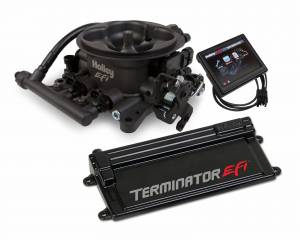 Terminator EFI - Terminator Stealth EFI - Classic Carb Look with Terminator ECU - Holley EFI - Holley EFI TERMINATOR EFI KIT W/ TRANS CONTROL (HCG TB) 550-408