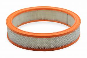 Air Intakes - Air Filters - Holley - Holley 14X3 PAPER AIR FILTER W/ORANGE RUBBER RI 120-179