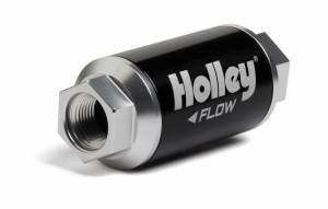 Air & Fuel System Parts - Fuel Filters - Holley - 162-550 Holley BILLET FF, 100 GPH, 10 MIC, 3/8-NPT