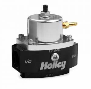 Fuel Pressure Regulators - Holley - Holley - 12-846 Holley Billet EFI Bypass Fuel Prs Regulator, Adjustable 15-65 psi, 8AN IN/OUT 6 AN Return