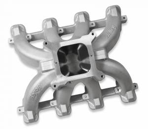 Performance - Intake Manifolds & Parts - Holley - Holley INTAKE MNFD CATHEDRAL SPLIT SGL-PLN CARB 300-256