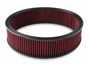 Air Intakes - Air Filters - Holley - Holley 16 X 4 RED GAUZE AIR FILTER 220-40