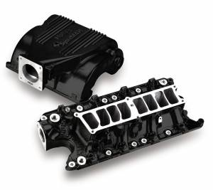Performance - Intake Manifolds & Parts - Holley - Holley KIT, FORD UPPER/LOWER BLACK MANIFOLD 300-72BK