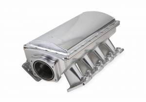 Holley Sniper EFI - Sniper EFI Fabricated Race Series Intake Manifold - GM LS3/L92 - 90mm - Silver - Image 1