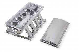 Holley Sniper EFI - Sniper EFI Fabricated Race Series Intake Manifold - 2011-14 Ford 5.0L Coyote - Silver - Image 8