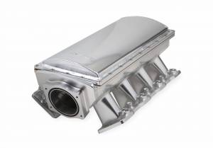 Holley Sniper EFI - Sniper EFI Fabricated Race Series Intake Manifold - GM LS1/LS2/LS6 - Silver