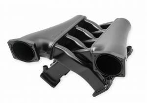 Holley Sniper EFI - Sniper EFI Fabricated Intake Manifold Dual Plenum 102mm GM LS3/L92, TB spacers, and Fuel Rail Kit - Black - Image 2