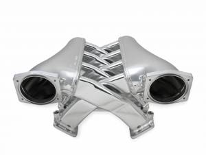 Holley Sniper EFI - Sniper EFI Fabricated Intake Manifold Dual Plenum 102mm GM LS3/L92, TB spacers, and Fuel Rail Kit - Silver
