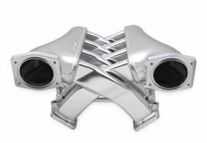 Holley Sniper EFI - Sniper EFI Fabricated Intake Manifold Dual Plenum 92mm GM LS3/L92, TB spacers, and Fuel Rail Kit - Silver