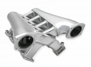 Holley Sniper EFI - Sniper EFI Fabricated Intake Manifold Dual Plenum 92mm GM LS3/L92, TB spacers, and Fuel Rail Kit - Silver - Image 3