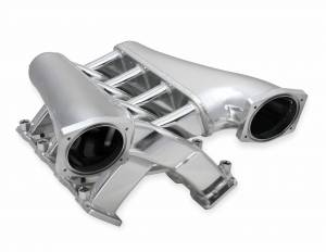 Holley Sniper EFI - Sniper EFI Fabricated Intake Manifold Dual Plenum 102mm GM LS1/2/6, TB spacers, and Fuel Rail Kit - Silver - Image 3
