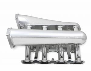 Holley Sniper EFI - Sniper EFI Fabricated Intake Manifold Dual Plenum 102mm GM LS1/2/6, TB spacers, and Fuel Rail Kit - Silver - Image 5