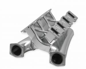 Holley Sniper EFI - Sniper EFI Fabricated Intake Manifold Dual Plenum 92mm GM LS1/2/6, TB spacers, and Fuel Rail Kit - Silver - Image 8