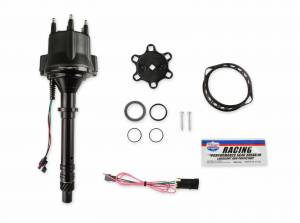 Holley Sniper EFI - 565-317BK HyperSpark Distributor - GM V6 - Black Billet Housing - Image 1
