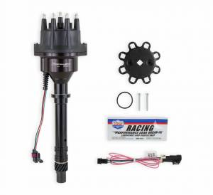 Holley Sniper EFI - 565-300BK Sniper EFI HyperSpark Distributor - Chevy SBC/BBC - Black Billet Housing - Image 1