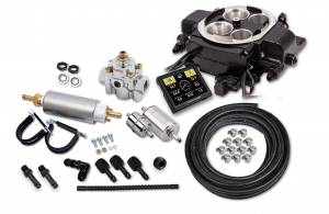 Sniper EFI Self-Tuning Kits - Sniper EFI Quadrajet - Rochester Quadrajet up to 500 HP - Holley Sniper EFI - Holley Sniper EFI Quadrajet Master Kit - Black Ceramic