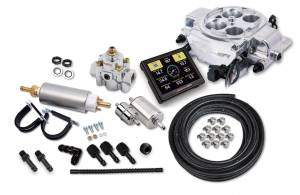 Sniper EFI Self-Tuning Kits - Sniper EFI Quadrajet - Rochester Quadrajet up to 500 HP - Holley Sniper EFI - Holley Sniper EFI Quadrajet Master Kit - Shiny Finish