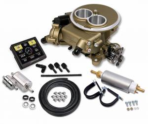 Sniper EFI Self-Tuning Kits - Sniper EFI 2300 2BBL - Supports up to 350 HP - Holley Sniper EFI - Holley Sniper EFI 2300 Self-Tuning Master Kit - Classic Gold Finish