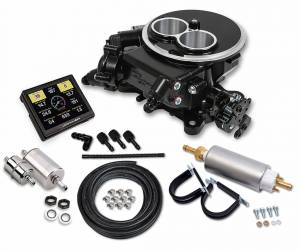 Sniper EFI Self-Tuning Kits - Sniper EFI 2300 2BBL - Supports up to 350 HP - Holley Sniper EFI - Holley Sniper EFI 2300 Self-Tuning Master Kit - Black Ceramic Finish