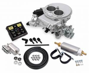 Sniper EFI Self-Tuning Kits - Sniper EFI 2300 2BBL - Supports up to 350 HP - Holley Sniper EFI - Holley Sniper EFI 2300 Self-Tuning Master Kit - Shiny Finish