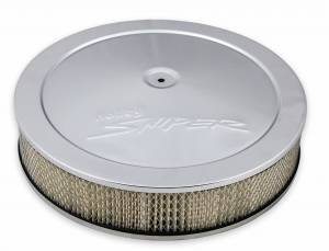 "Air & Fuel System Parts - Air Cleaners - Holley Sniper EFI - Sniper Air Cleaner Assembly, 14"" x 3"" - Chrome Finish"